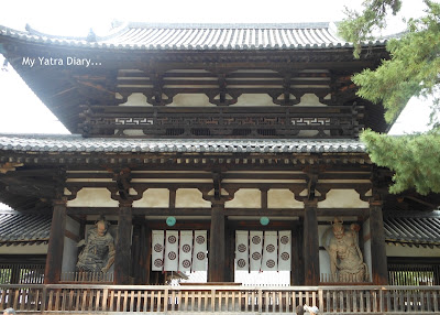 The Chūmon (Inner Gate) Horyu-ji Temple in Nara