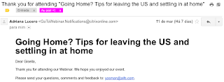 tips for leaving the US and settling in at home