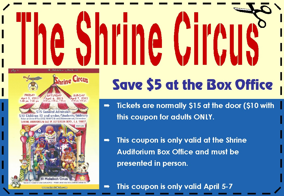 image about Aquarium of the Pacific Coupons Printable titled Shrine circus mn 2018 coupon codes