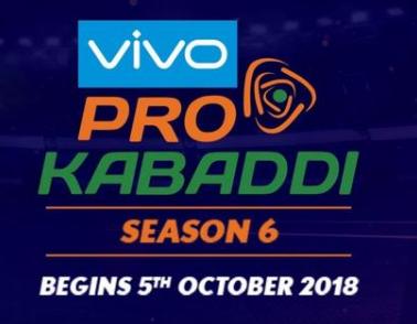 Vivo Pro kabaddi 2018
