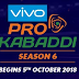 Vivo Pro Kabaddi Season 6: The official Date for Pro Kabaddi League Announced