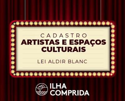 Ilha Comprida inicia 02/07 cadastro on line de artistas e profissionais de cultura para auxílio emergencial