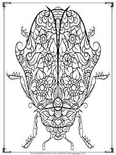 hard beetle coloring pages for adult