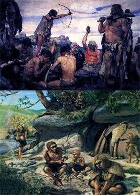 Gambar ilustrasi sejarah masa berburu dan meramu tingkat lanjut