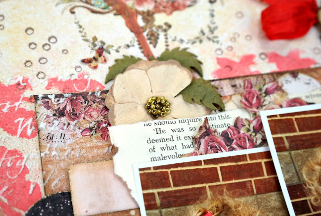Backround Stamping and Stenciling on a Shabby Chic Scrapbook Layout by Dana Tatar