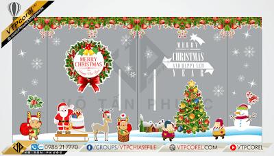 Decal trang trí Noel dán kính và mừng năm mới