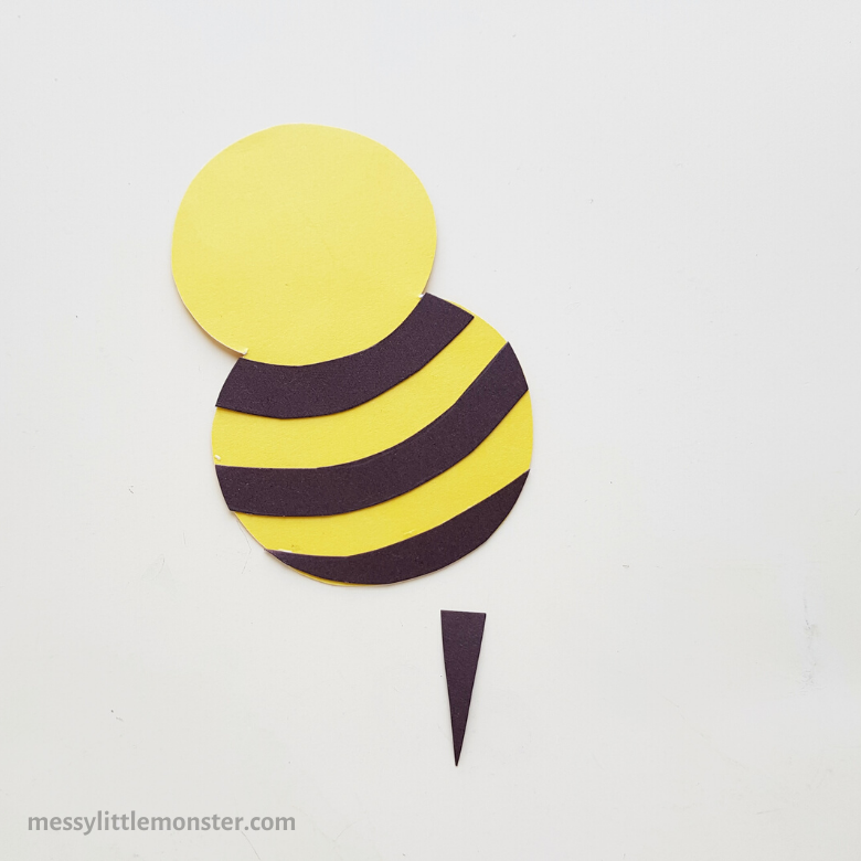 Valentine paper bee craft