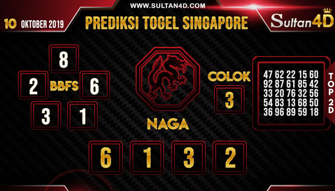 PREDIKSI TOGEL SINGAPORE SULTAN4D 10 OKTOBER 2019