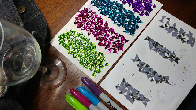 Coloring rhinestones with Sharpies