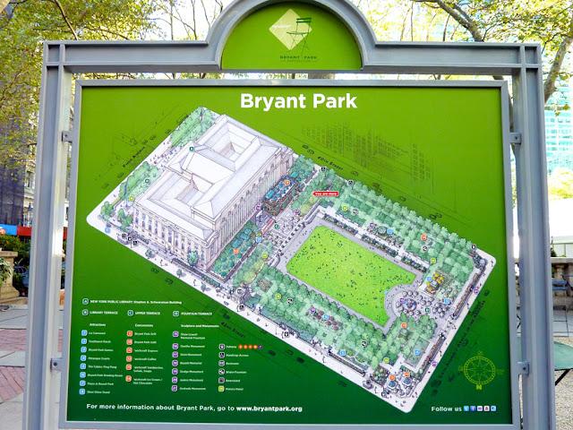 Plano de Bryant Park