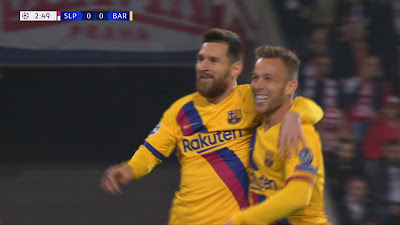 UCL-Group-F-3 Slavia Prague 1 vs 2 Barcelona 23-10-2019
