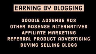 Earning by blogging