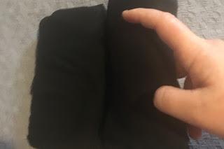 the last steps in folding large size pants for konmari fold