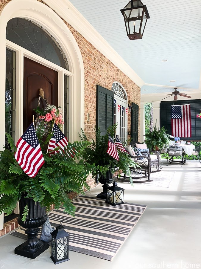 OUR SOUTHERN HOME | PATRIOTIC FRONT PORCH