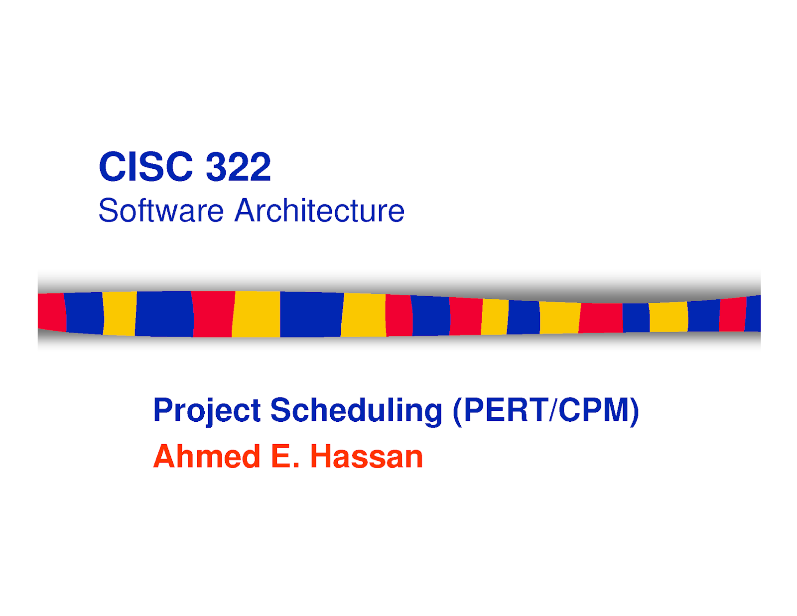 Project Scheduling (PERT/CPM)