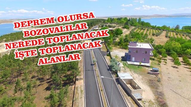 Bozova'da deprem olması halinde toplanacak yerler