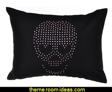 Punk Princess Skull Gemstone Decorative Cotton Throw Pillow