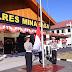 Polres Minahasa Gelar Upacara Bendera Peringatan HUT Ke 74 Kemerdekaan RI