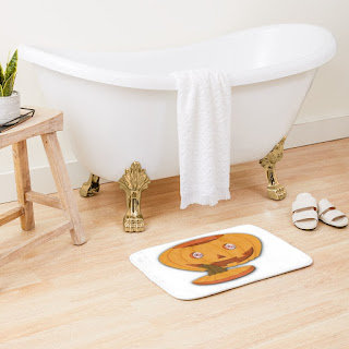 Halloween Pumpkin Bath Mat