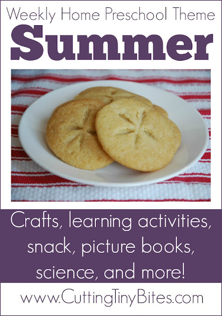 Summer Theme Weekly Homeschool Preschool. Crafts, snacks, science, picture books, and more! Perfect amount of activities for one week of EASY home pre-k.