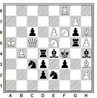 Problema de mate en 2 compuesto por Leonid A. Isaev (Tijdschrift van den Nederlandschen, Schaakbond 1927)