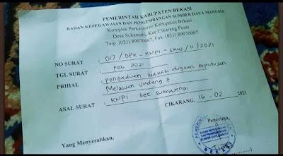 """Pasang Spanduk """"2X Tambah Baik"""" Camat Sukawangi Dilaporkan ke BKPSDM"""