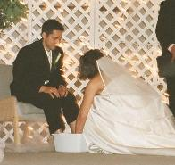 wedding foot-washing ceremony