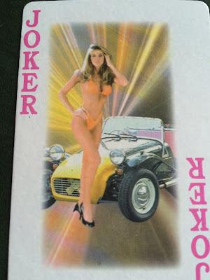 Girl in Bikini with a Car. Joker