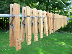 Finished Clothespins