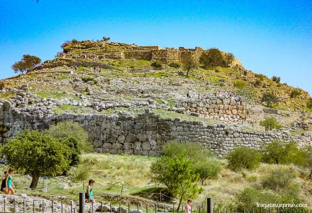 Micenas: vista geral do sítio arqueológico
