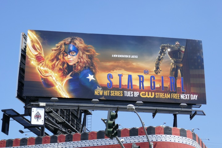 Stargirl series launch billboard