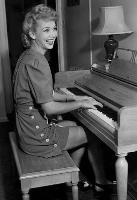 Carole Landis At The Piano