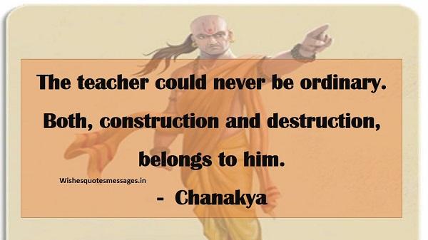 chanakya quote teacher