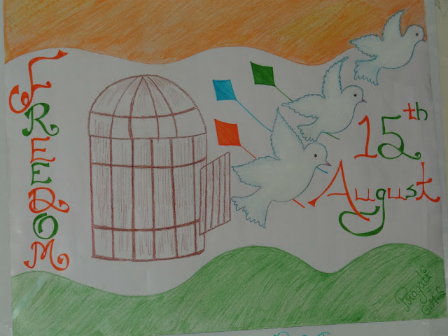 Drawing Idea for Independence Day for Kids