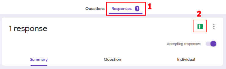 membuat file spreadsheet responden