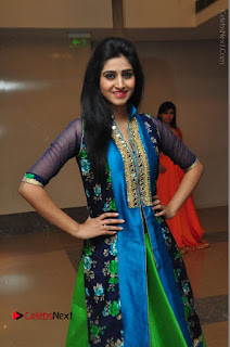 Actress Model Shamili Sounderajan Pos in Desginer Long Dress at Khwaaish Designer Exhibition Curtain Raiser  0034.JPG