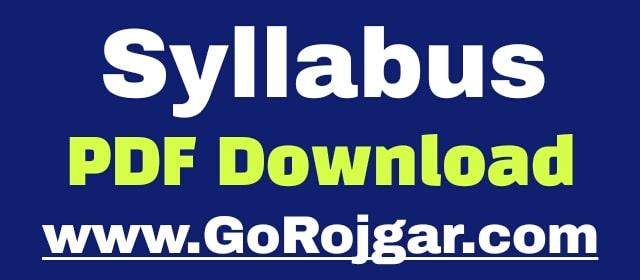 Rajasthan Motor Vibhag SI Syllabus 2021 PDF Download