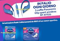 Logo Concorso ''Vai a ritmo con Nuvenia'' e vinci 93 cuffie Panasonic e abbonamenti sport da 800€