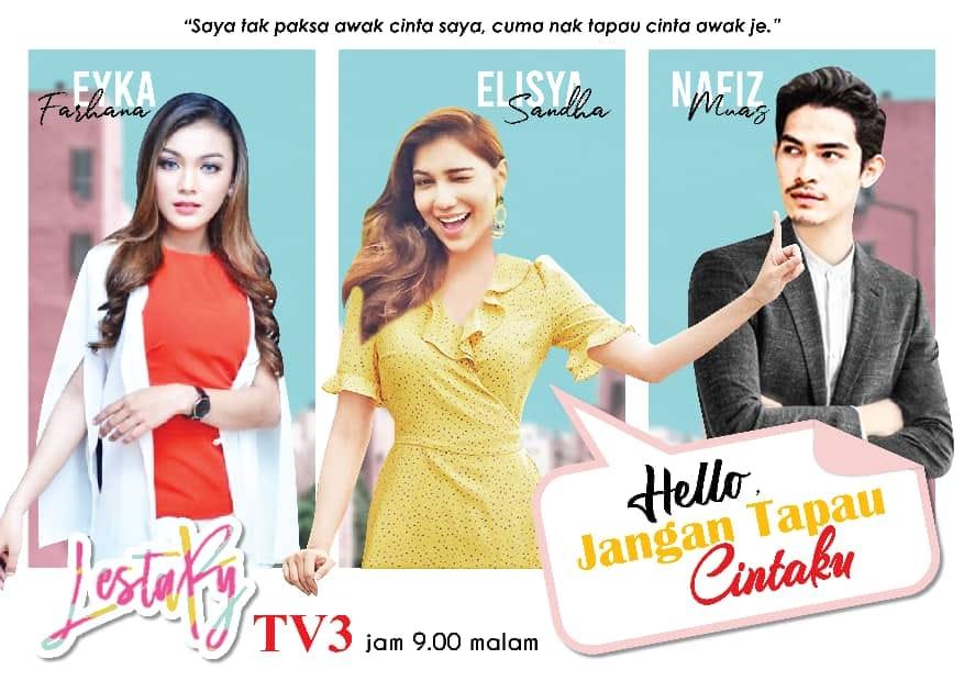 Drama Hello Jangan Tapau Cintaku Lakonan Nafiz Muaz, Elisya Sandha 2