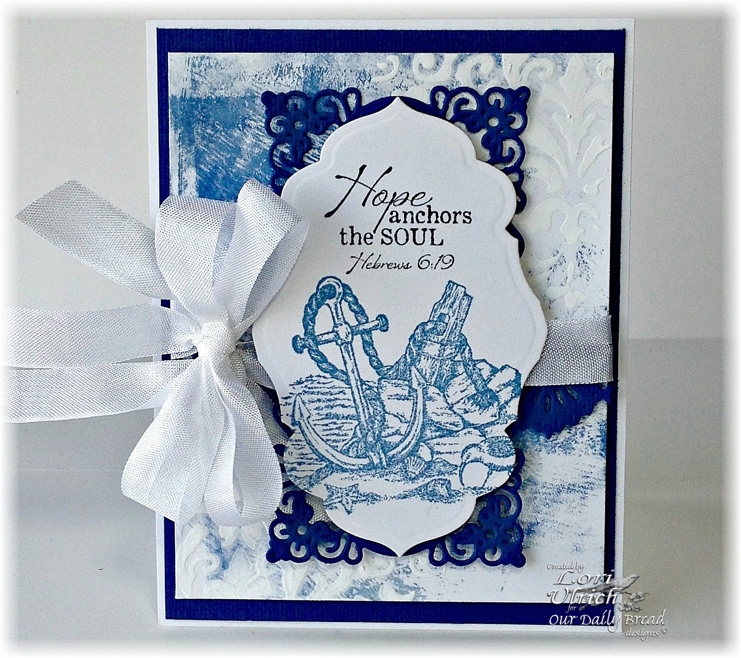 Stamps - Our Daily Bread Designs Anchor the Soul, ODBD Custom Antique Labels and Borders Die, ODBD Custom Beautiful Borders Dies