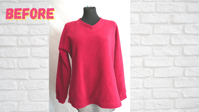before sweater after crop top easy sewing refashion