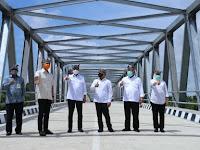 3 Menteri Resmikan Jembatan Penghubung Provinsi Jawa Timur Dan Jawa Tengah