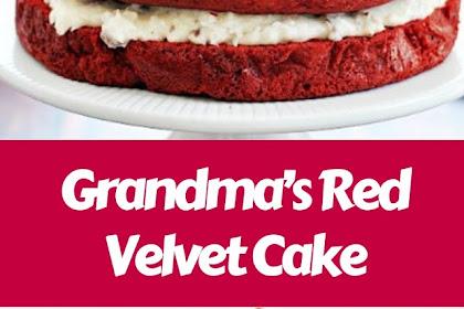 Grandma's Red Velvet Cake #christmas #cake