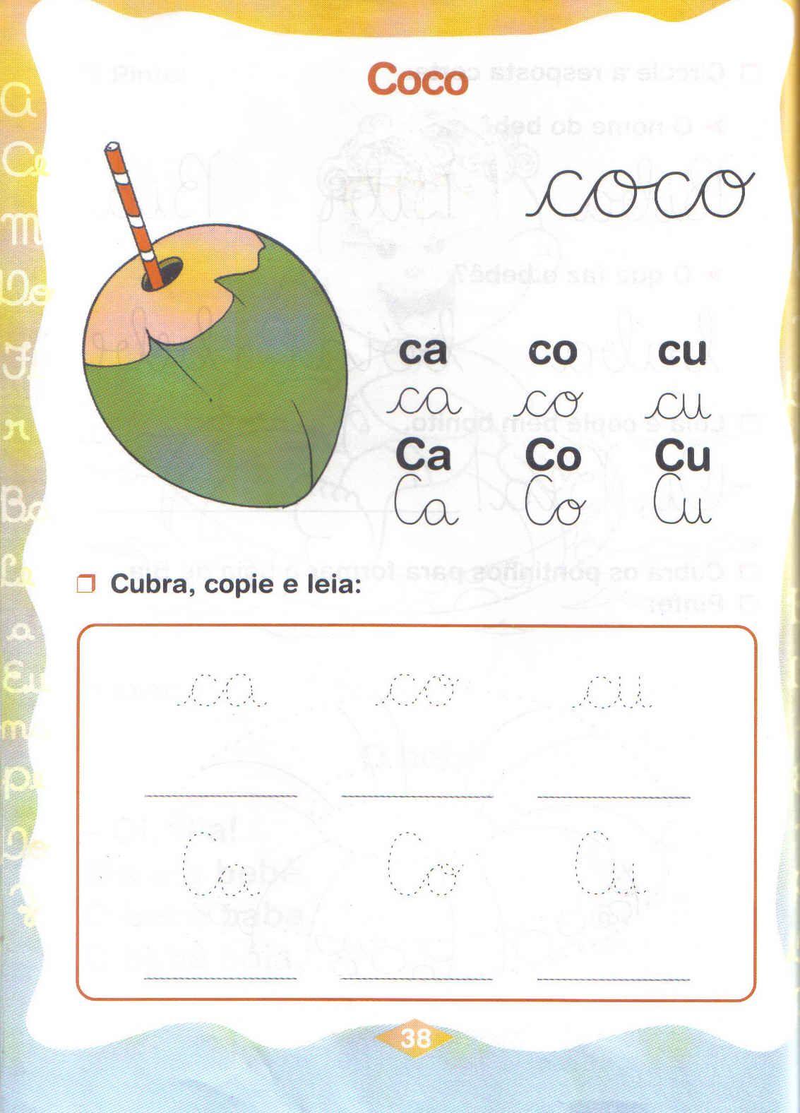 silabas simples atividades ca co cu