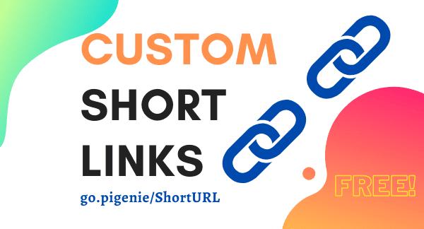 Create Custom Short Links for Free