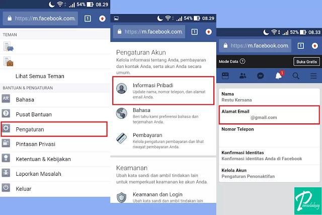 Cara Mengganti Email Facebook Lewat Browser HP