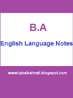 BA English Literature And Notes PDF Free Download
