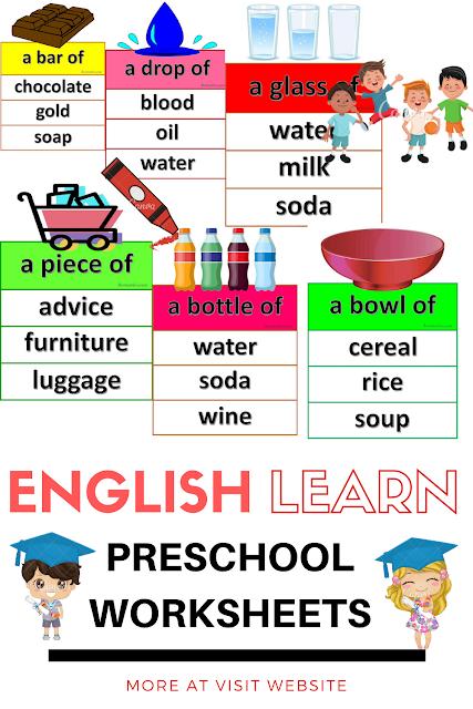 English Learn Preschool Worksheets 2020