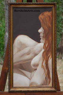 Dana Lounging - Original Oil Figure Painting from Life by Kelly Borsheim