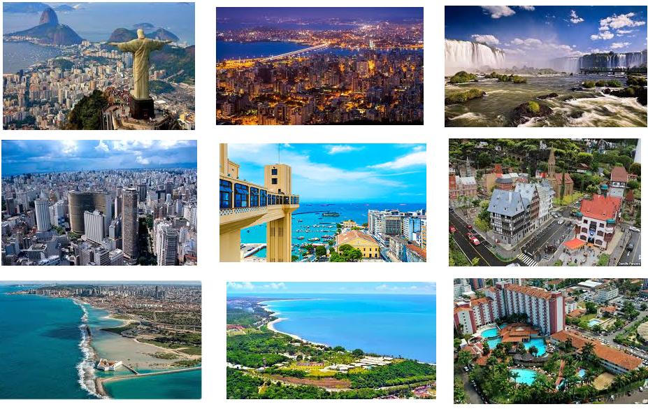 Os Lugares Mais Visitados no Brasil
